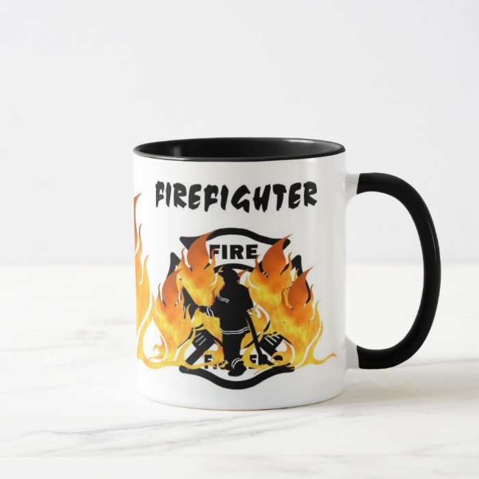 Fire Dept Flames Mug