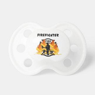 Fire Dept Flames Baby Pacifier