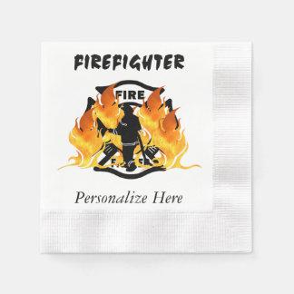 Fire Dept Flames Paper Napkin