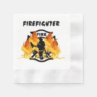 Fire Dept Flames Disposable Napkin