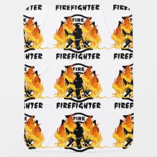 Fire Dept Flames Receiving Blanket