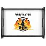 Fire Dept Flames Service Trays