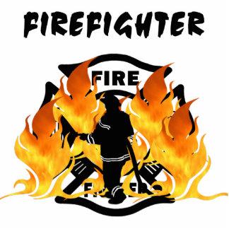 Fire Dept Flames Statuette
