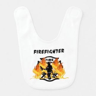 Fire Dept Flames Baby Bibs