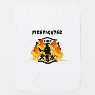 Fire Dept Flames Receiving Blankets