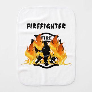 Fire Dept Flames Baby Burp Cloths