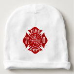 Fire Dept Maltese Cross Baby Cotton Beanie at Zazzle