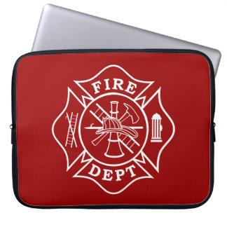 Fire Dept Maltese Cross Laptop Bag Computer Sleeves