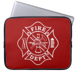 Fire Dept Maltese Cross Laptop Bag Laptop Sleeve