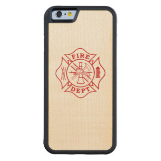 Fire Dept Maltese Cross Maple iPhone 6/6s Carved Maple iPhone 6 Bumper Case