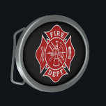 """Fire Dept Maltese Cross Oval Belt Buckle<br><div class=""""desc"""">Fire Dept Maltese Cross Oval Belt Buckle is the perfect gift item for any firefighter to wear proudly.</div>"""