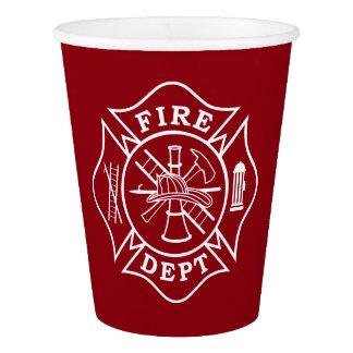 Fire Dept Maltese Cross Paper Cup, 9 oz Paper Cup