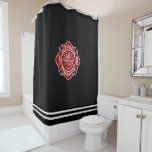 Fire Dept Maltese Cross Shower Curtain at Zazzle