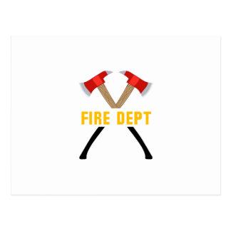 Fire Dept Postcard
