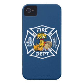 Fire Dept Thanksgiving Logo iPhone 4 Cases