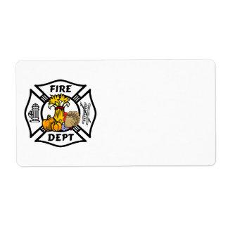 Fire Dept Thanksgiving Logo Label