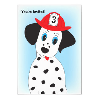 Fire Dept. Theme Boy's Birthday Party Invitation