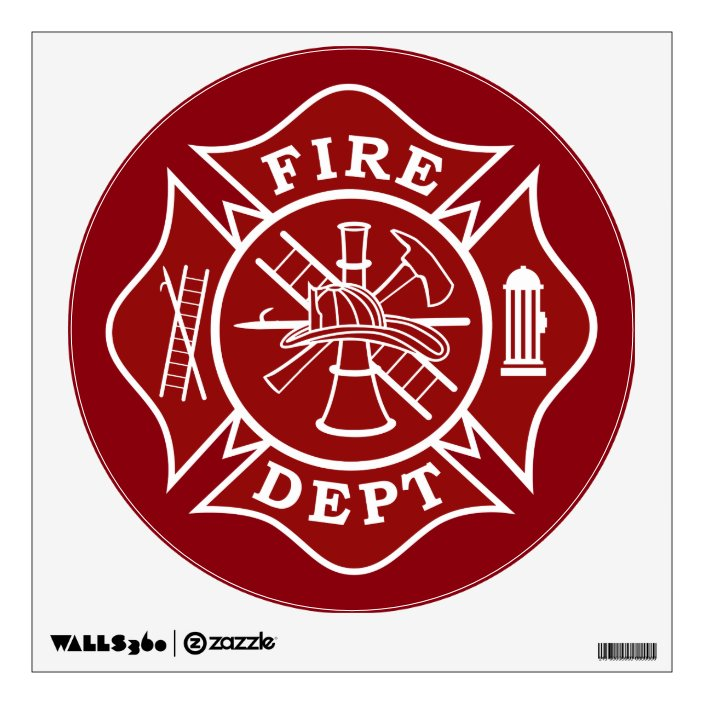 Fire Dept Wall Decals Zazzle