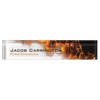Fire! Desk Name Plate
