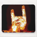 Fire Devil Horns Customized Mouse Pad