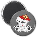 Fire Dog Dalmation and Hat Fridge Magnets