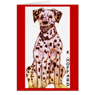 Fire Dog Greeting Cards