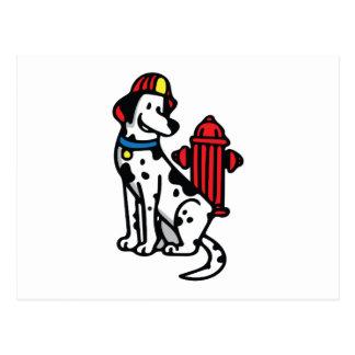 Fire Dog Postcard