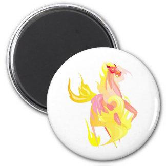 fire dragon 2 inch round magnet