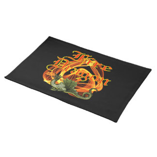 Fire Dragon American MoJo Placemat Cloth Placemat