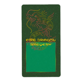 Fire Dragon Apothecary Label