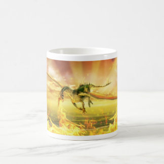 Fire Dragon Basic White Mug