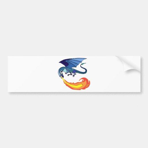 Fire Dragon Bumper Sticker