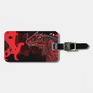 Fire Dragon (Dark Version) Luggage Tag
