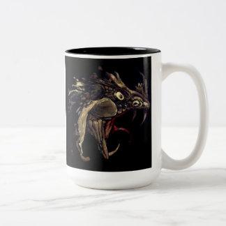 Fire Dragon Enamel Art Two-Tone Coffee Mug