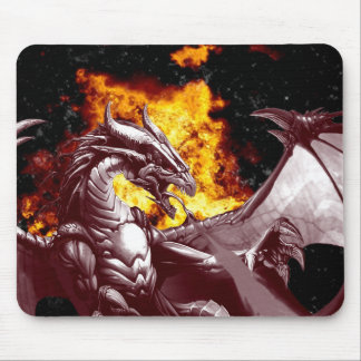 Fire Dragon Fantasy Mythical Mousepad