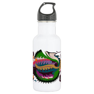 Fire Dragon (Green & Black) Stainless Steel Water Bottle