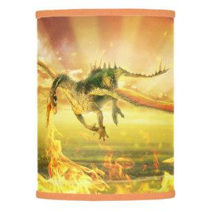 Lamp shades zazzle fire dragon lamp shade aloadofball Choice Image