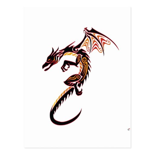 Fire Dragon Post Cards