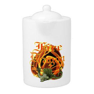 Fire Dragon Teapot (2) sizes