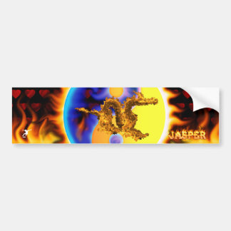 Fire Dragon with your names in flames Bumper Sticker