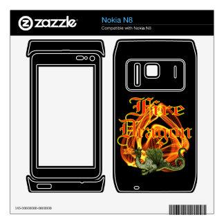 Fire Dragon Zazzle Skin Skin For Nokia N8
