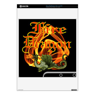 Fire Dragon Zazzle Skin Decal For PS3 Slim