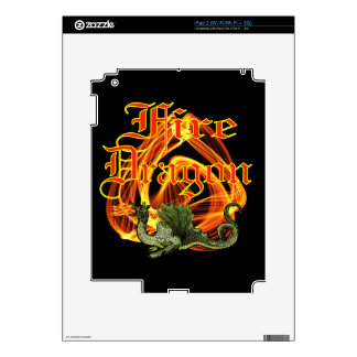 Fire Dragon Zazzle Skin Decals For The iPad 2