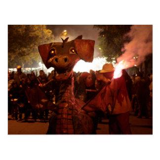 Fire Dragoon - Catalan Monster Postcard
