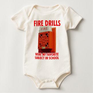 Fire Drills Baby Bodysuits