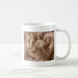 Fire Dust Abstract Horse Coffee Mug