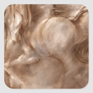 Fire Dust Abstract Horse Square Sticker