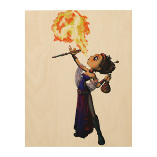 Fire Eater Wood Wall Decor