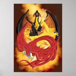 Fire element gods   TAOFEWA manga universe Poster