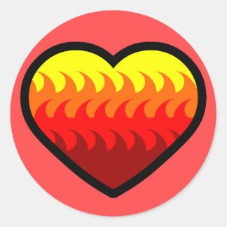 Fire Element Heart Sticker